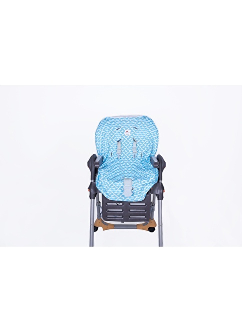 Moms Cotton Mama Sandalyesi Kılıfı Blue Whale Mavi